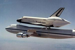 Próba podczas lotu promu kosmicznego